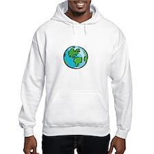 Save Earth Chocolate White Hoodie