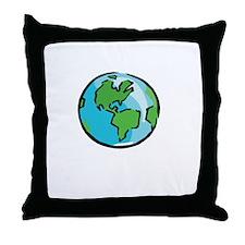 Save Earth Chocolate White Throw Pillow