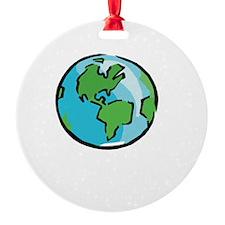 Save Earth Chocolate White Ornament