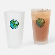 Save Earth Chocolate White Drinking Glass