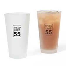 Speed Limit White Drinking Glass