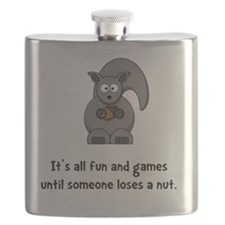 Squirrel Nut Black Flask