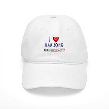 I LOVE MAH JONG Baseball Cap
