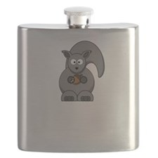 Squirrel Nut White Flask