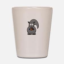 Squirrel Nut White Shot Glass