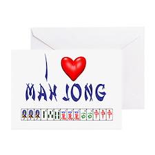 I LOVE MAH JONG Greeting Cards (Pk of 10)