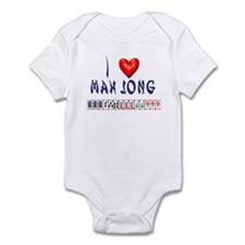 I LOVE MAH JONG Infant Bodysuit