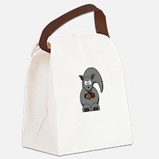 Squirrel Nut White Canvas Lunch Bag