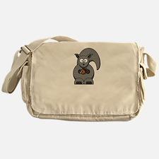 Squirrel Nut White Messenger Bag