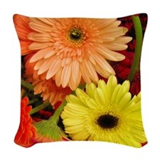 Mouse-flowers Woven Throw Pillow