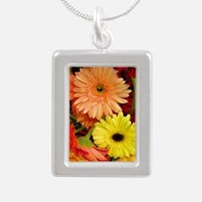 Mouse-flowers Silver Portrait Necklace