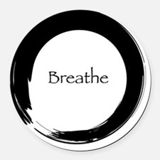 Remember to Breathe Round Car Magnet