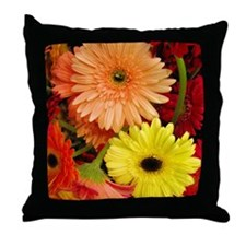 Mouse-flowers Throw Pillow