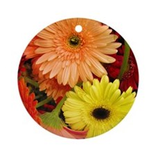 Mouse-flowers Round Ornament