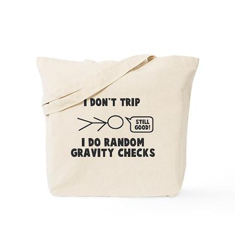 Random Gravity Checks Tote Bag