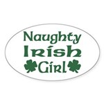 Naughty Irish Girl Oval Sticker