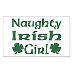Naughty Irish Girl Rectangle Sticker