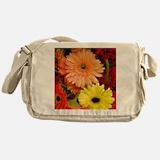 Square gerbera Daisies Messenger Bag