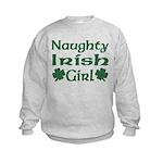 Naughty Irish Girl Kids Sweatshirt