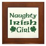 Naughty Irish Girl Framed Tile
