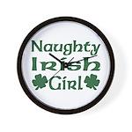 Naughty Irish Girl Wall Clock