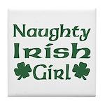 Naughty Irish Girl Tile Coaster