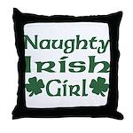 Naughty Irish Girl Throw Pillow