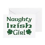 Naughty Irish Girl Greeting Cards (Pk of 10)