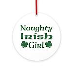 Naughty Irish Girl Ornament (Round)