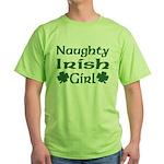 Naughty Irish Girl Green T-Shirt