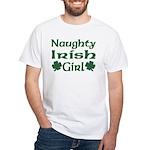 Naughty Irish Girl White T-Shirt