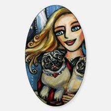 pug momma love Decal