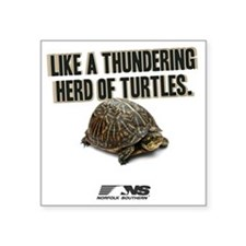 """Like A Thundering Herd of T Square Sticker 3"""" x 3"""""""