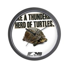 Like A Thundering Herd of Turtles NS Wall Clock
