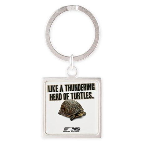 Like A Thundering Herd of Turtles Square Keychain