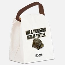 Like A Thundering Herd of Turtles Canvas Lunch Bag