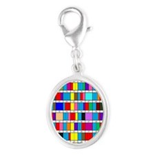 Prime Factorization Chart Silver Oval Charm