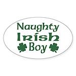 Naughty Irish Boy Oval Sticker