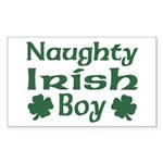 Naughty Irish Boy Rectangle Sticker