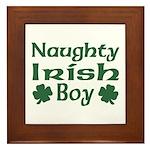 Naughty Irish Boy Framed Tile