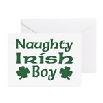 Naughty Irish Boy Greeting Cards (Pk of 10)