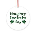 Naughty Irish Boy Ornament (Round)
