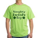 Naughty Irish Boy Green T-Shirt