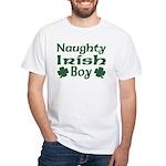 Naughty Irish Boy White T-Shirt