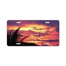 Picturesque sunset Aluminum License Plate