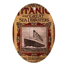 Sinking of the Titanic Oval Ornament
