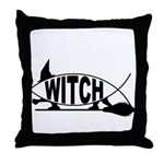 Witch Fish Throw Pillow