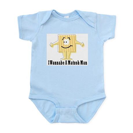 I Wannabe A Matzah Man Passover Infant Bodysuit