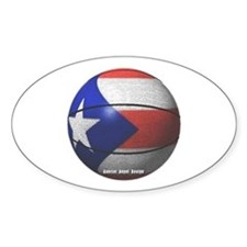 Puerto Rican Basketball Oval Decal