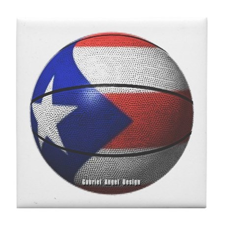 Puerto Rican Basketball Tile Coaster
